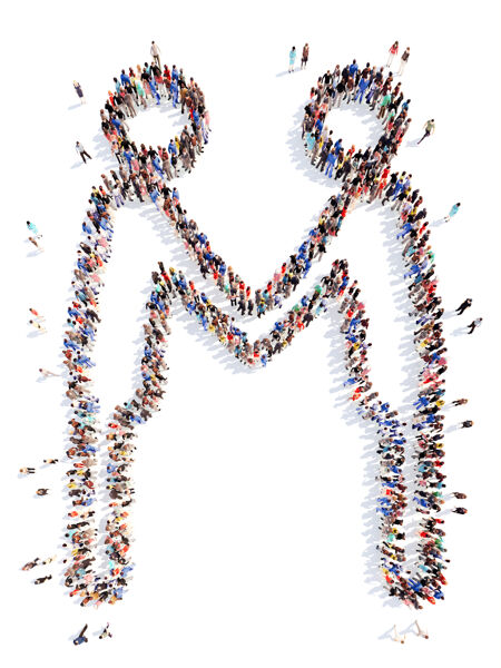 一大群形似商人的人握手隔离.!人 男人 运动 剪影 人 会议 夫妇 人 商人 握手 小组 一起 手一起 组成 孤立的白色 微小的人