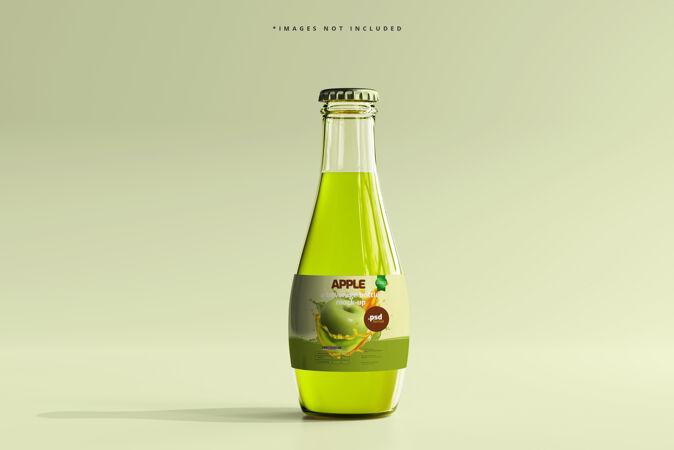 玻璃饮料瓶模型