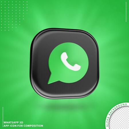 Whatsapp应用图标构图黑色