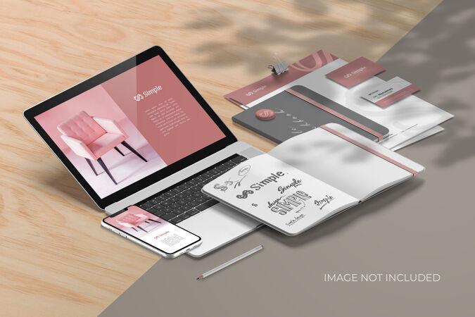 等轴测文具品牌-实物模型场景创造者