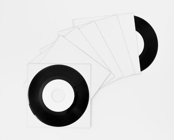 各种各样的黑胶唱片模型