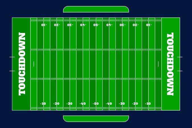 平面设计美式足球场