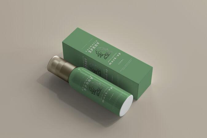 喷雾瓶和盒子模型